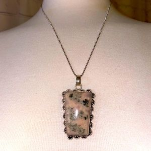 Beautiful large Jim stone in real sterling silver